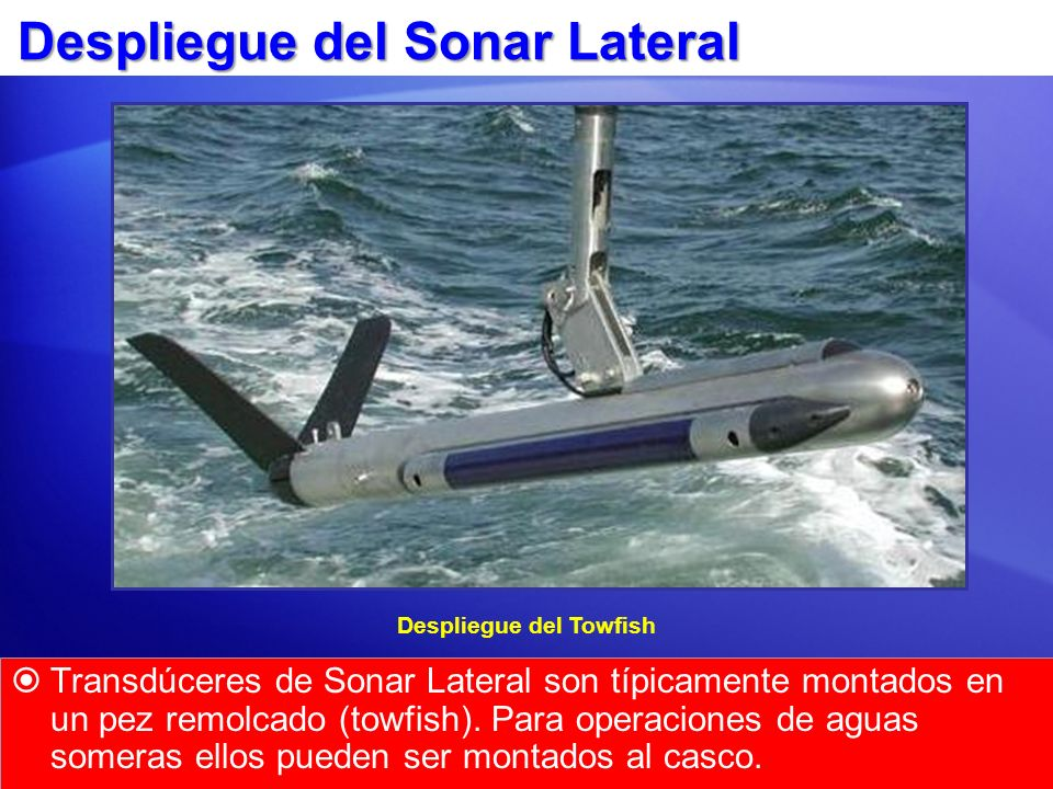 Despliegue del Sonar Lateral