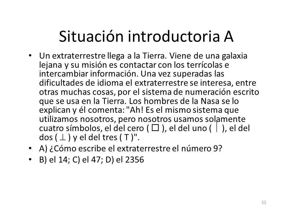 Situación introductoria A