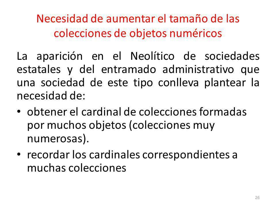 Necesidad de aumentar el tamaño de las colecciones de objetos numéricos