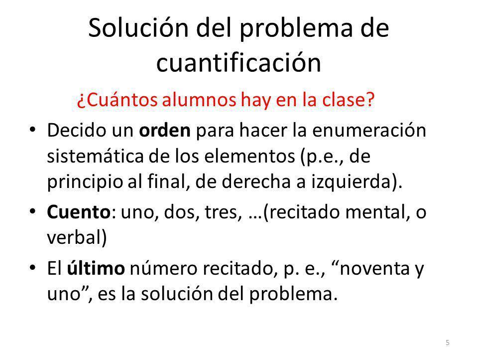 Solución del problema de cuantificación