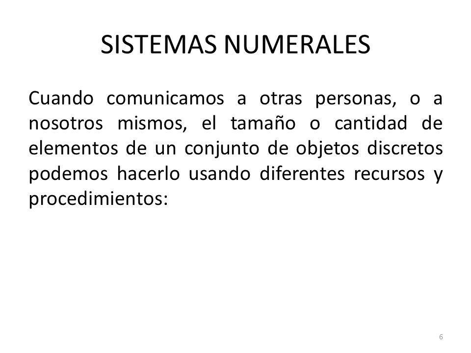 SISTEMAS NUMERALES