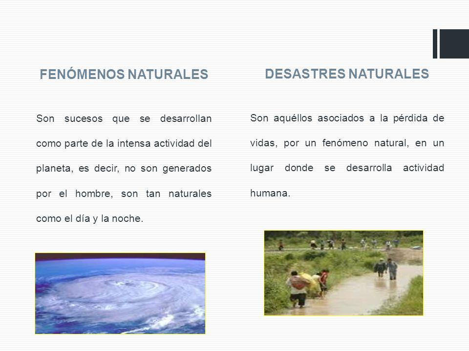 DESASTRES NATURALES FENÓMENOS NATURALES