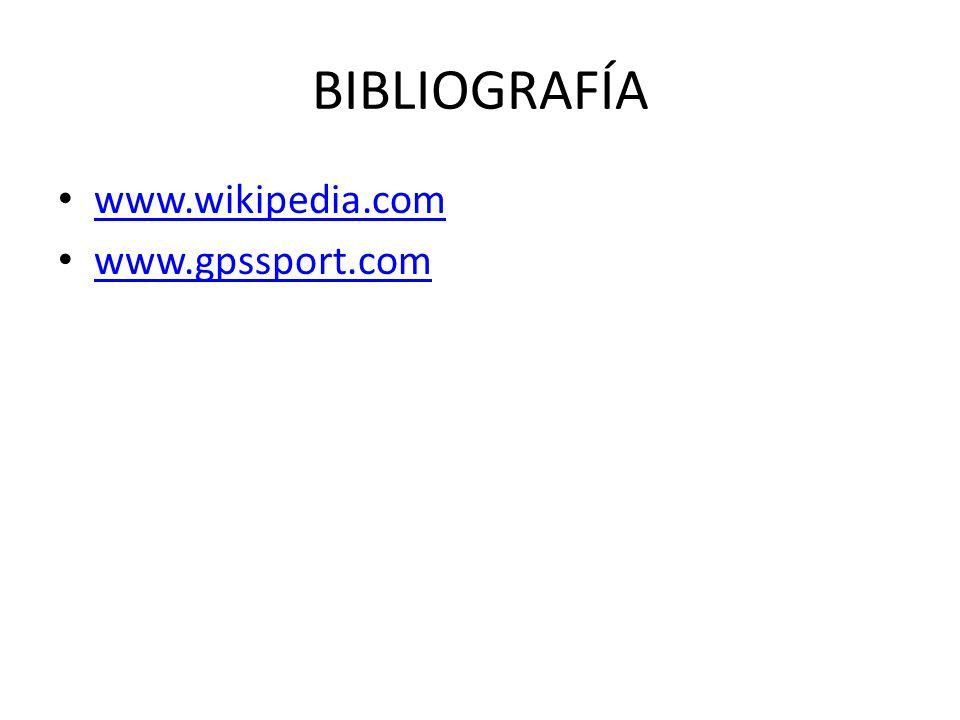 BIBLIOGRAFÍA www.wikipedia.com www.gpssport.com