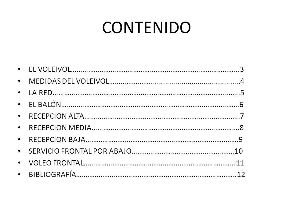CONTENIDO EL VOLEIVOL……………………………………………………………………………...3