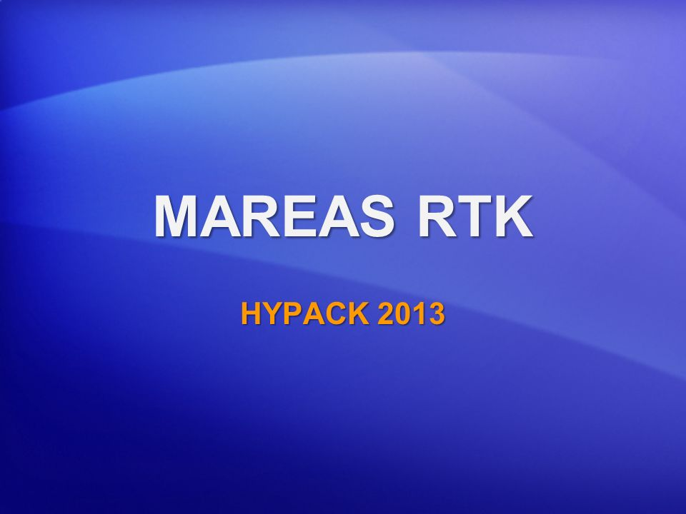 MAREAS RTK HYPACK 2013