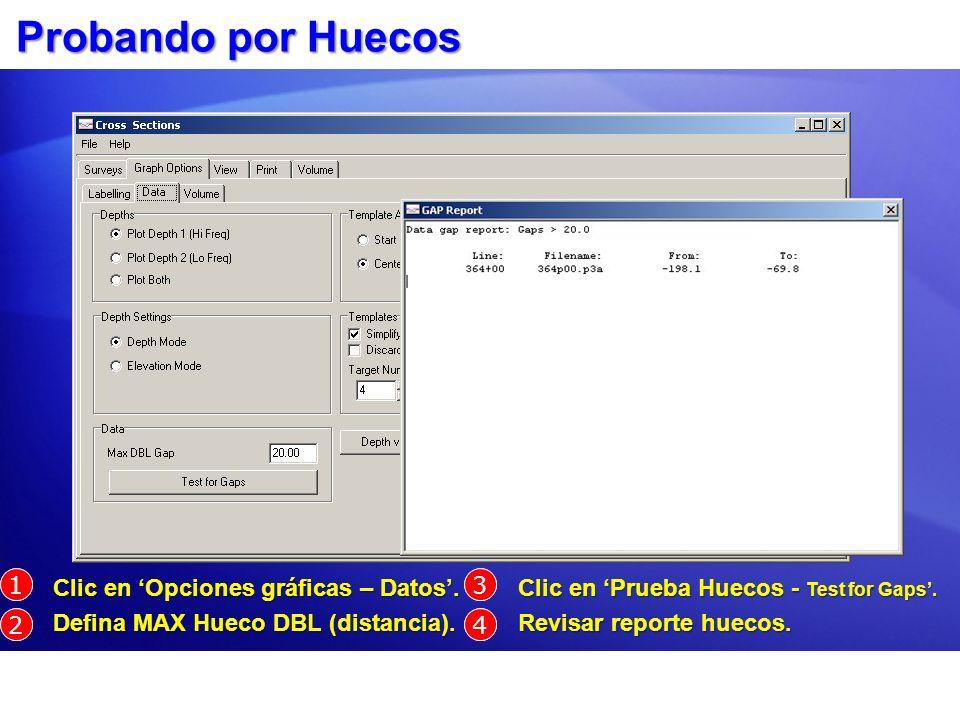 Probando por Huecos 1 1 Clic en 'Opciones gráficas – Datos'.