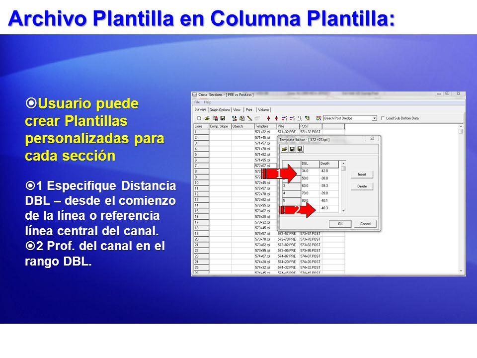 Archivo Plantilla en Columna Plantilla:
