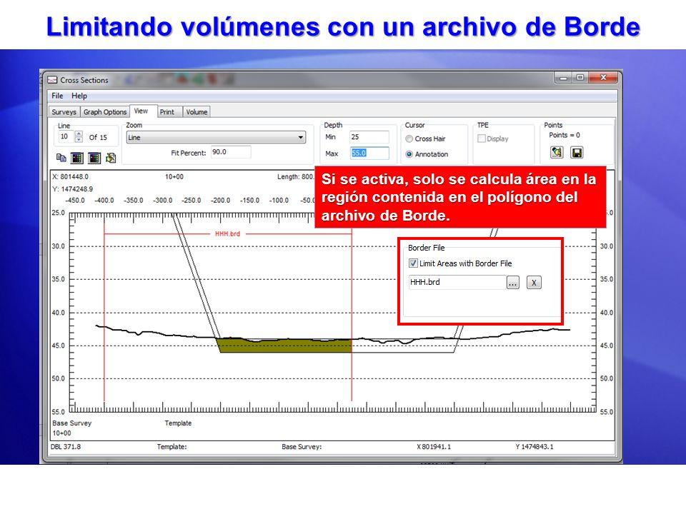 Limitando volúmenes con un archivo de Borde