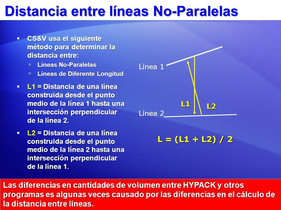 Distancia entre líneas No-Paralelas
