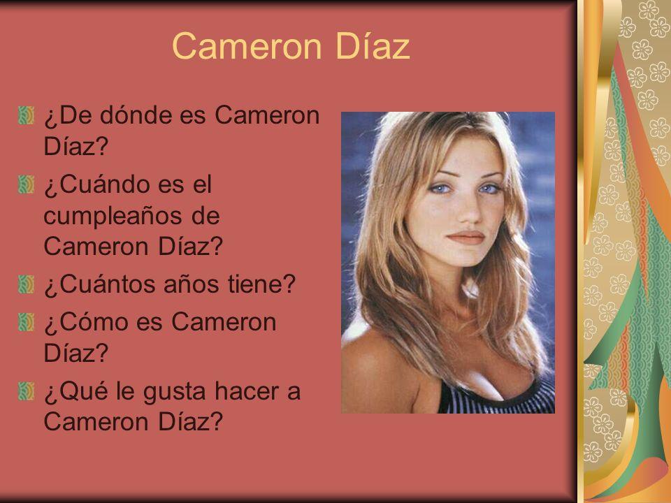 Cameron Díaz ¿De dónde es Cameron Díaz