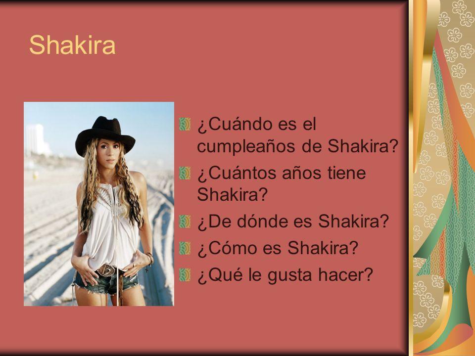 Shakira ¿Cuándo es el cumpleaños de Shakira