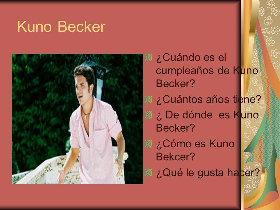 Kuno Becker ¿Cuándo es el cumpleaños de Kuno Becker
