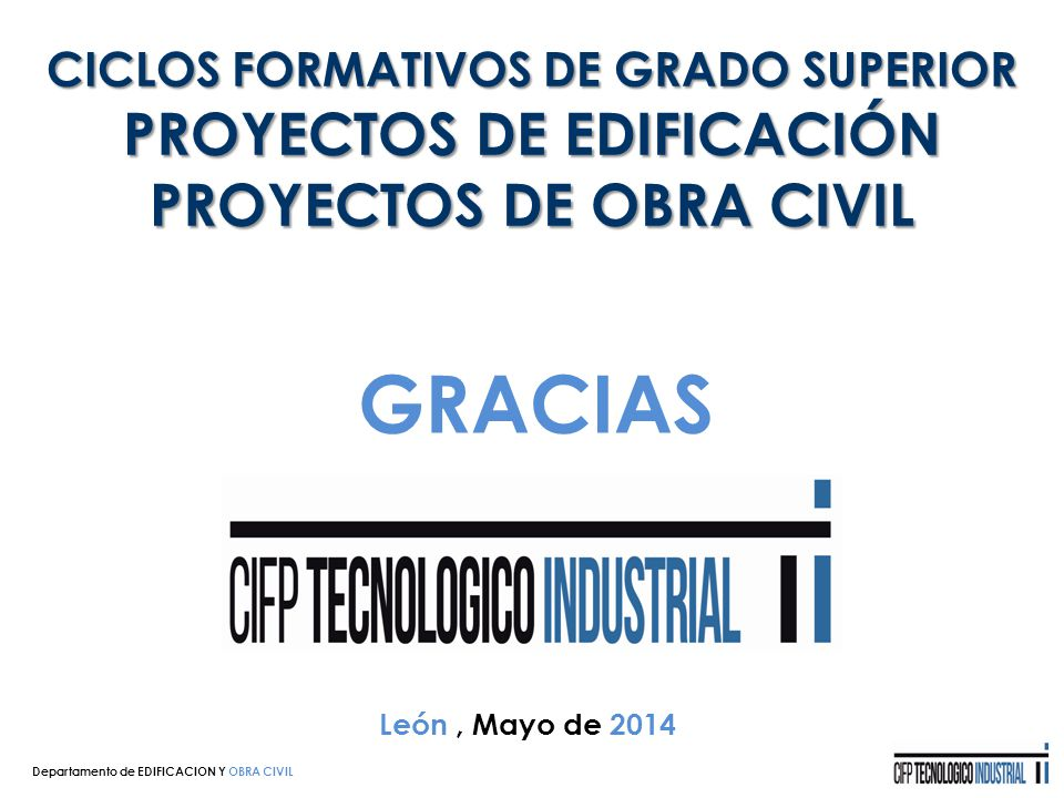 Edificacion y obra civil ppt descargar for Grado superior arquitectura