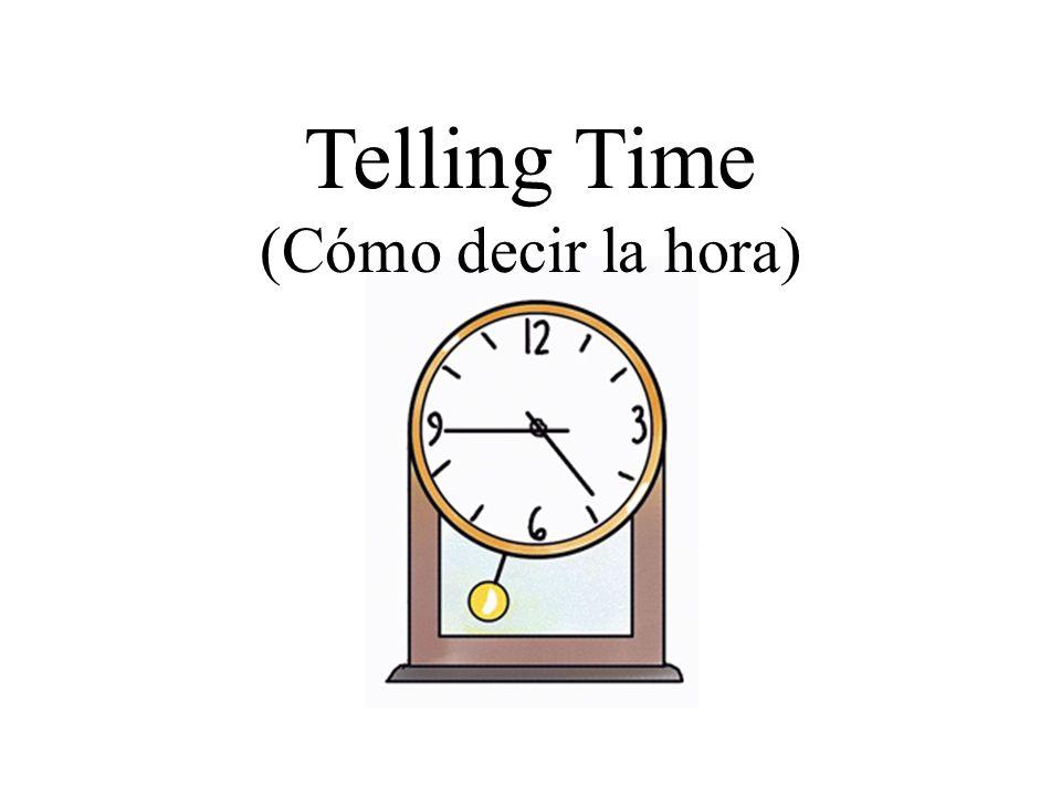 Telling Time (Cómo decir la hora)