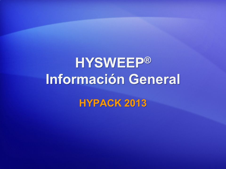 HYSWEEP® Información General