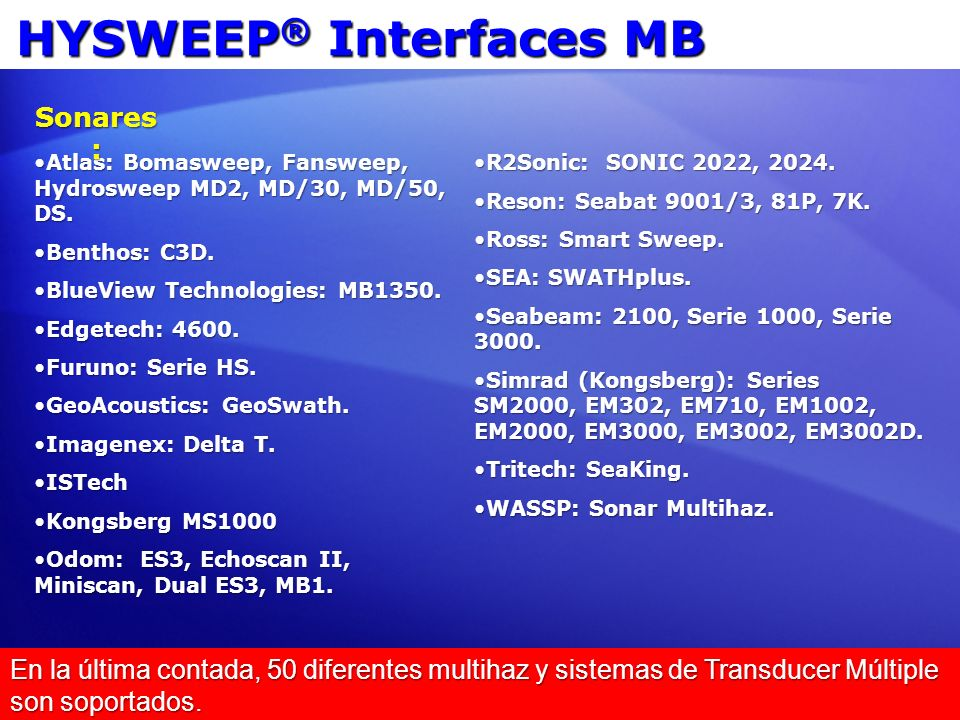 HYSWEEP® Interfaces MB