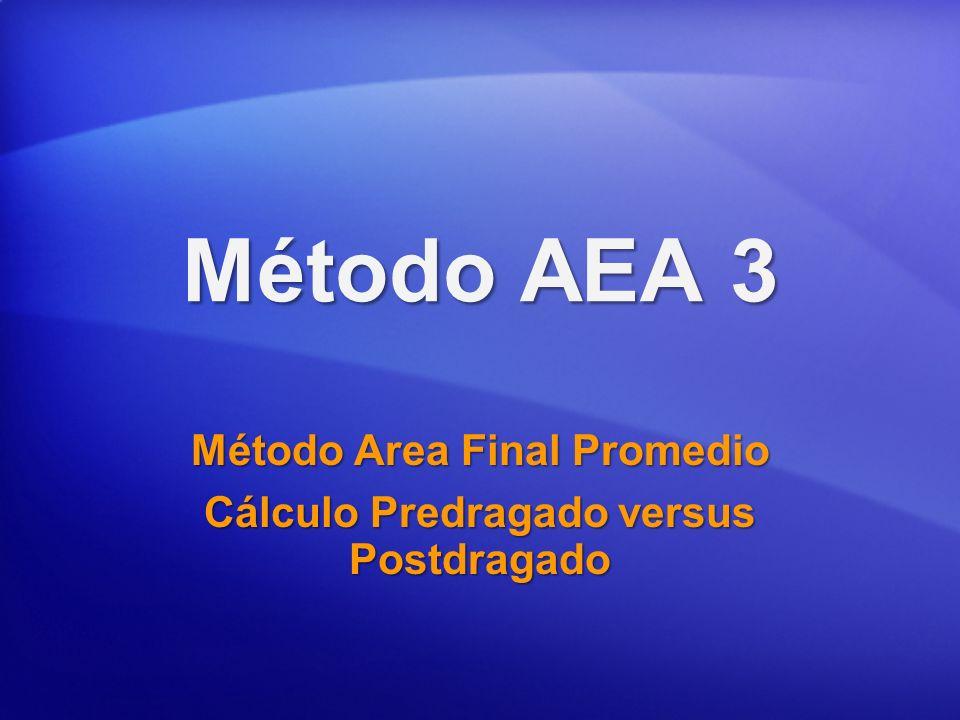 Método Area Final Promedio Cálculo Predragado versus Postdragado