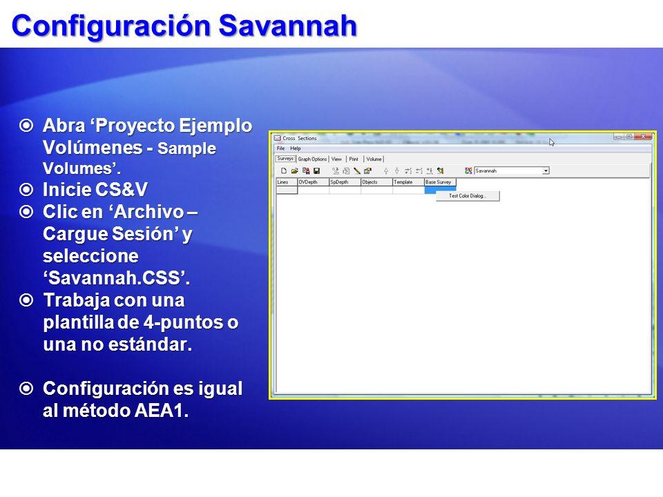 Configuración Savannah