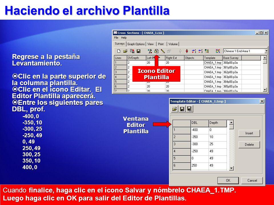 Haciendo el archivo Plantilla