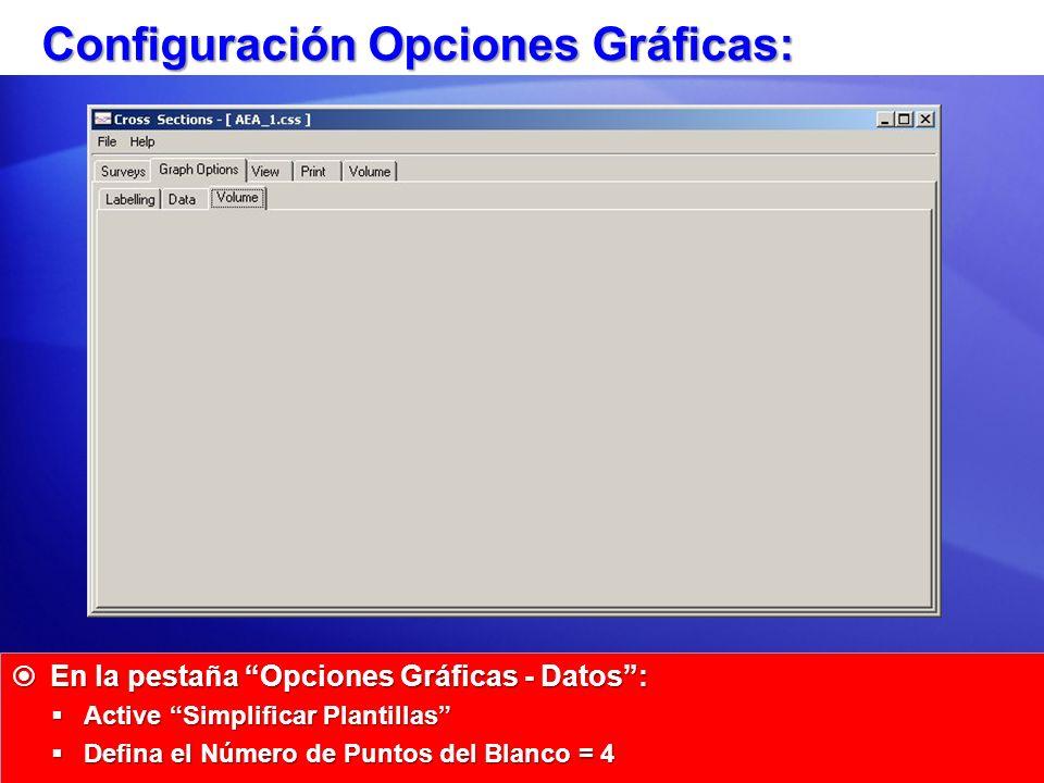 Configuración Opciones Gráficas: