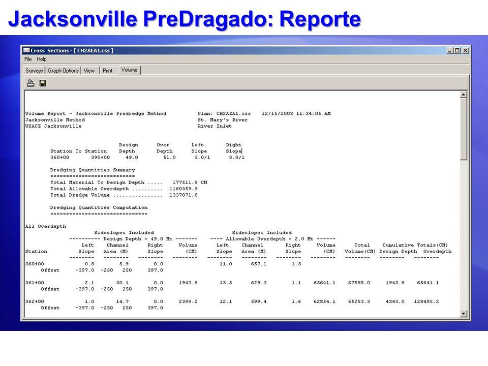 Jacksonville PreDragado: Reporte