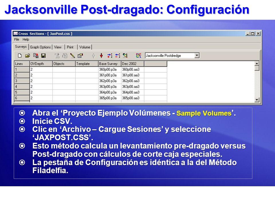 Jacksonville Post-dragado: Configuración