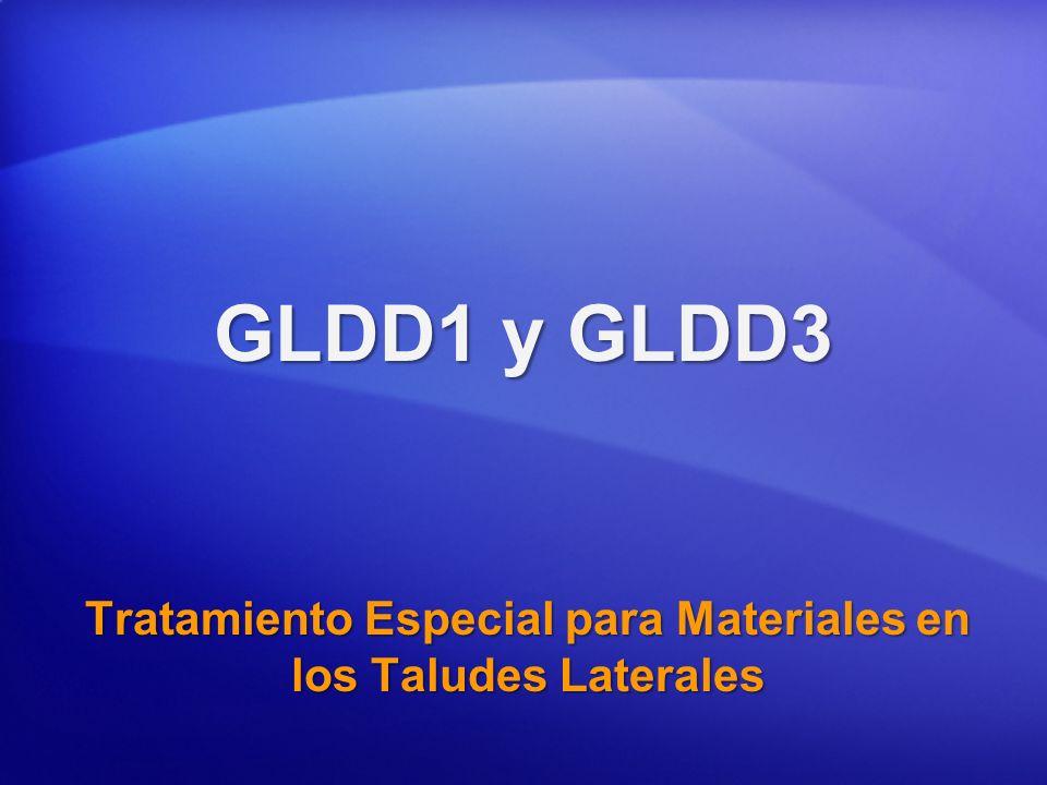 Tratamiento Especial para Materiales en los Taludes Laterales