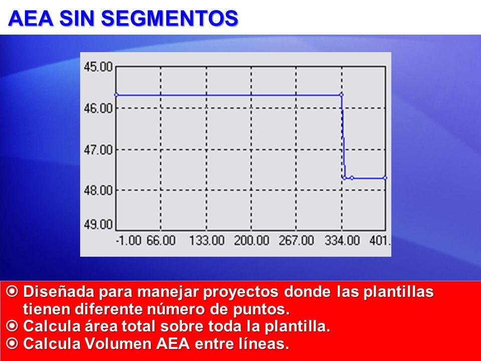 AEA SIN SEGMENTOS Diseñada para manejar proyectos donde las plantillas tienen diferente número de puntos.