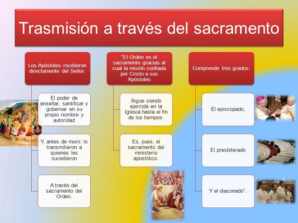 Trasmisión a través del sacramento