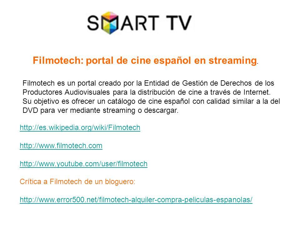Filmotech: portal de cine español en streaming.