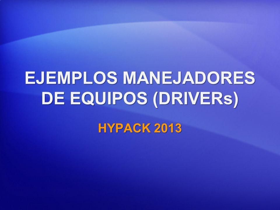 EJEMPLOS MANEJADORES DE EQUIPOS (DRIVERs)