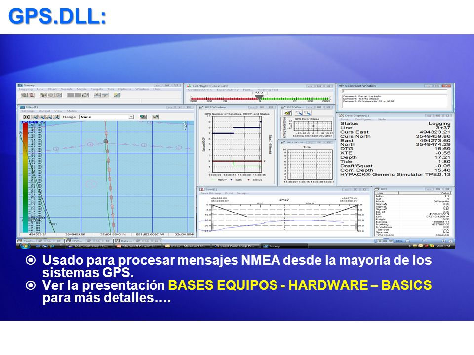 GPS.DLL: Usado para procesar mensajes NMEA desde la mayoría de los sistemas GPS.