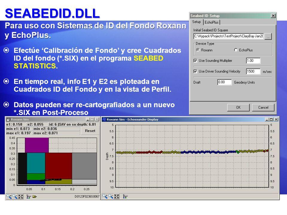 SEABEDID.DLL Para uso con Sistemas de ID del Fondo Roxann y EchoPlus.
