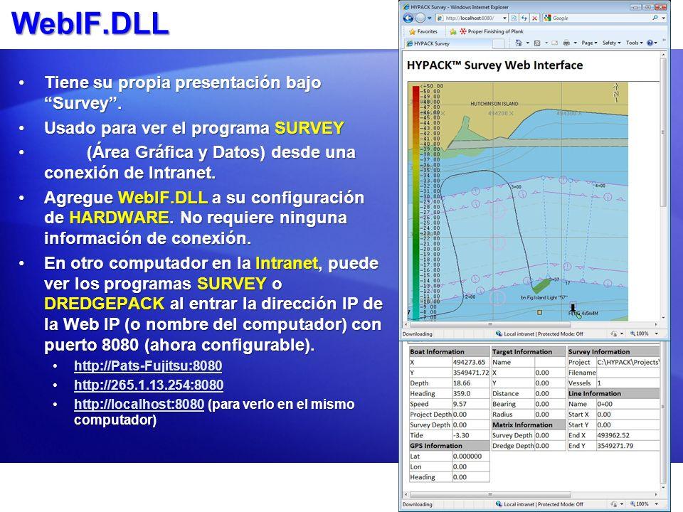 WebIF.DLL Tiene su propia presentación bajo Survey .
