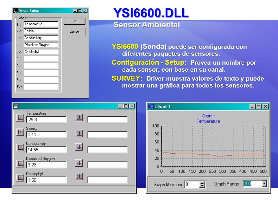 YSI6600.DLL Sensor Ambiental