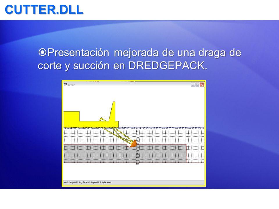 CUTTER.DLL Presentación mejorada de una draga de corte y succión en DREDGEPACK.