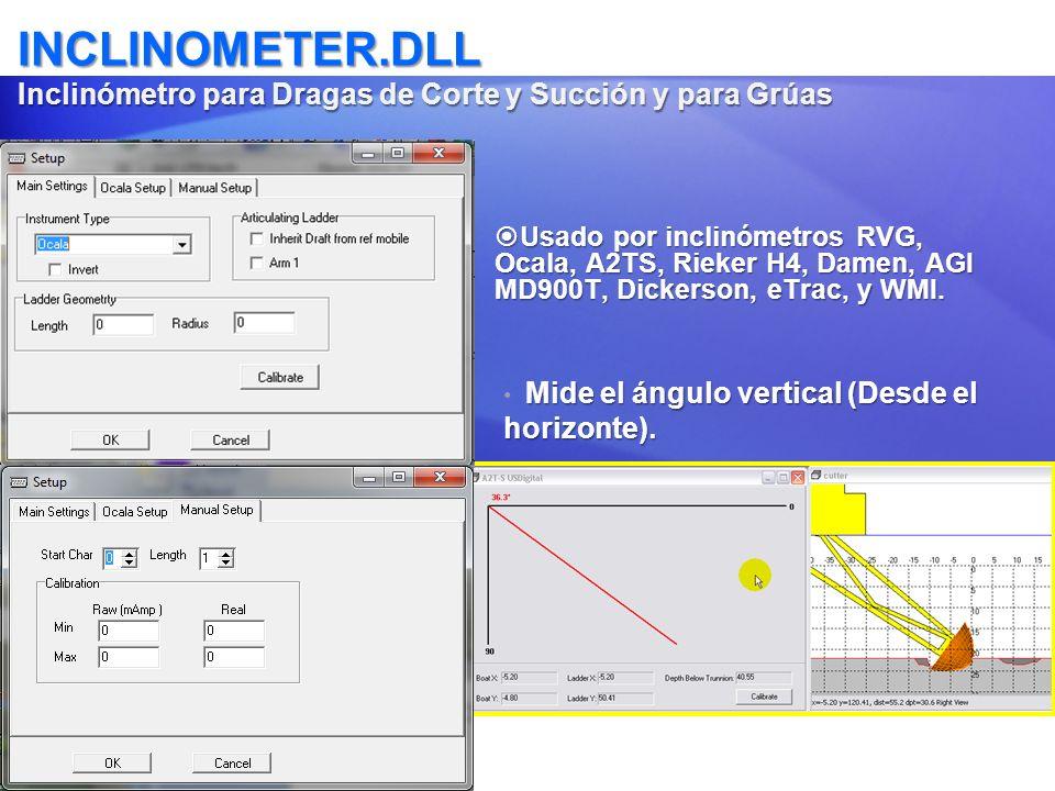 INCLINOMETER.DLL Inclinómetro para Dragas de Corte y Succión y para Grúas