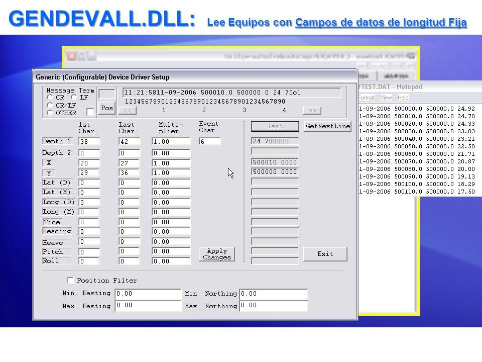 GENDEVALL.DLL: Lee Equipos con Campos de datos de longitud Fija