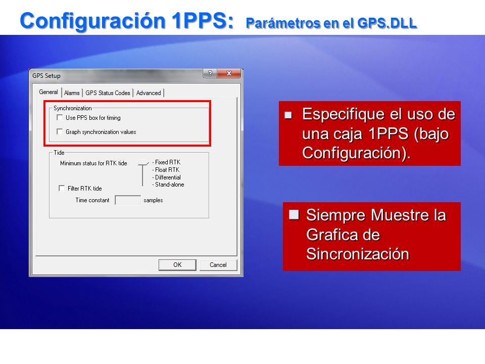 Configuración 1PPS: Parámetros en el GPS.DLL