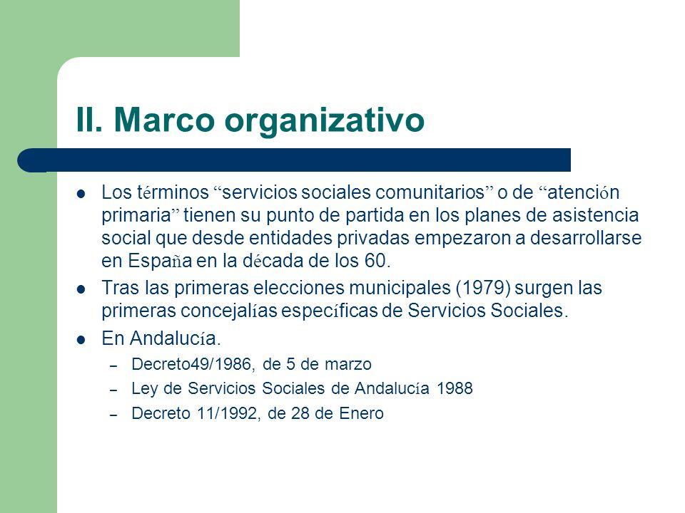 II. Marco organizativo