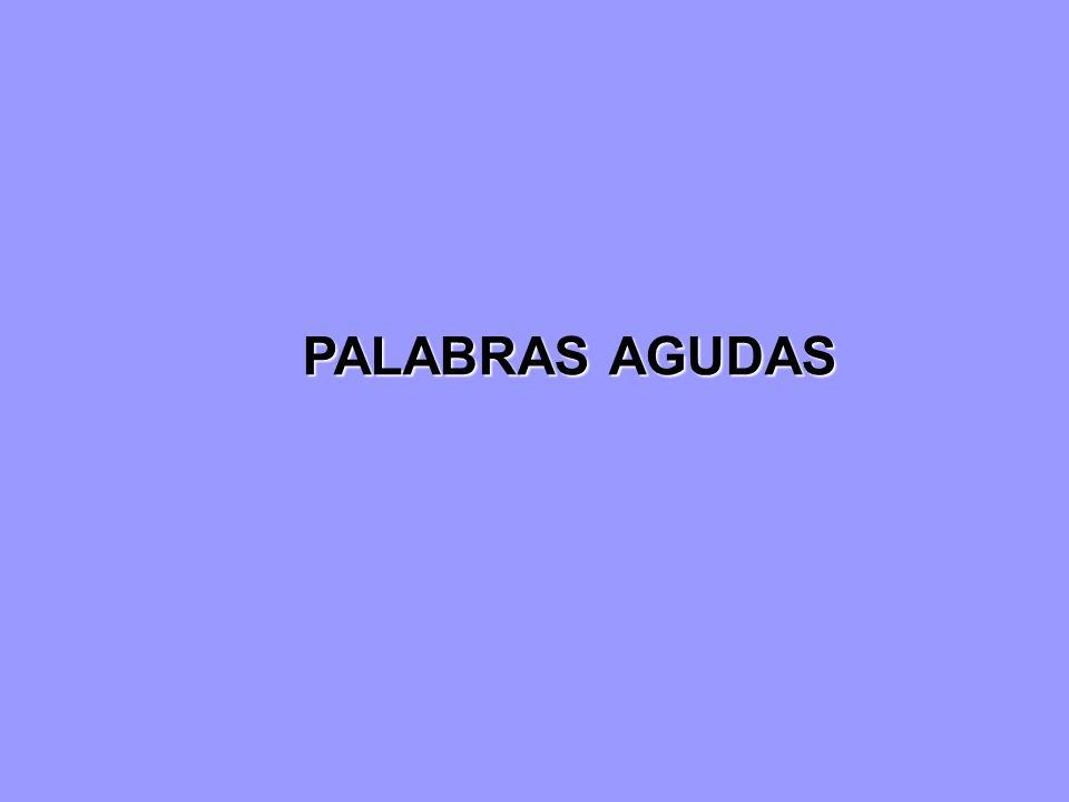 PALABRAS AGUDAS