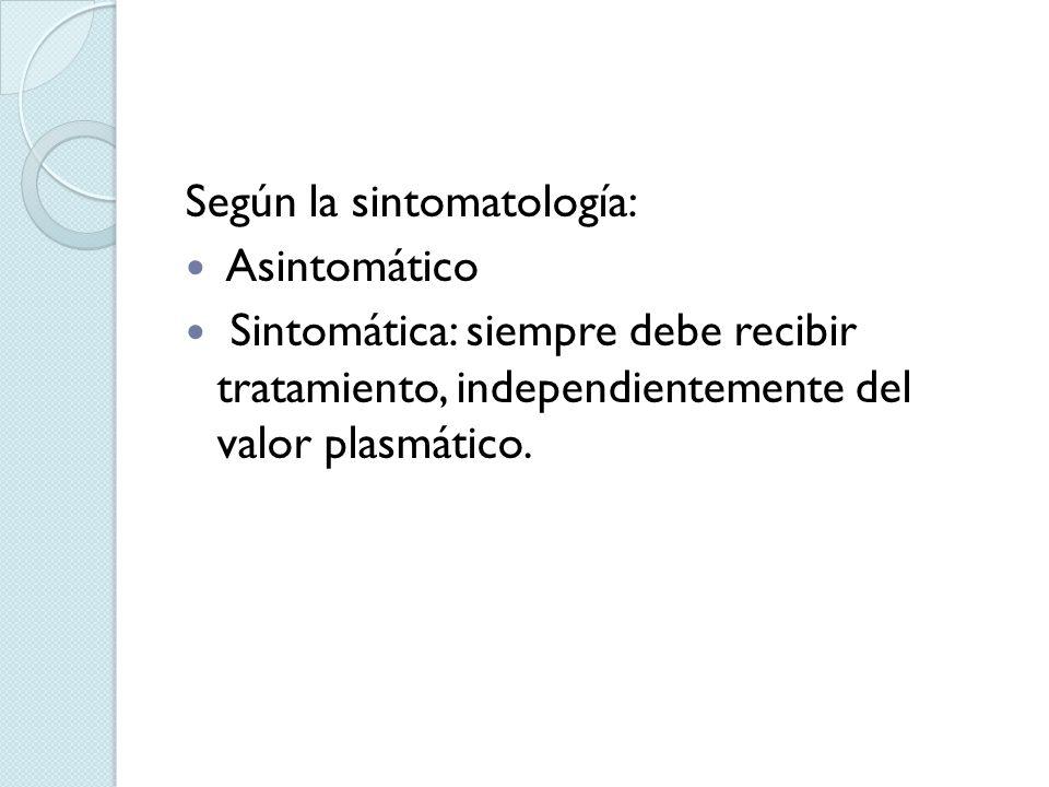 Según la sintomatología: