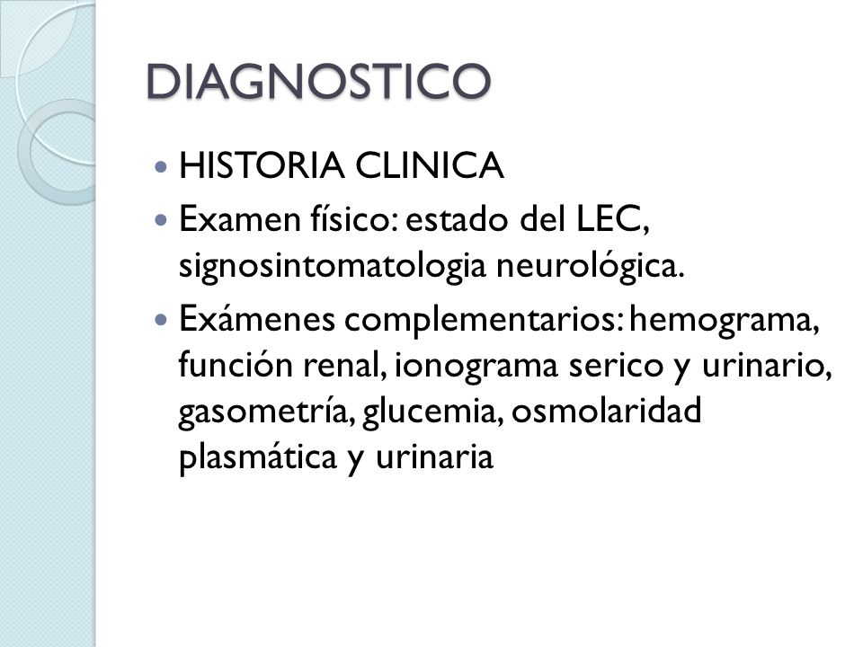 DIAGNOSTICO HISTORIA CLINICA