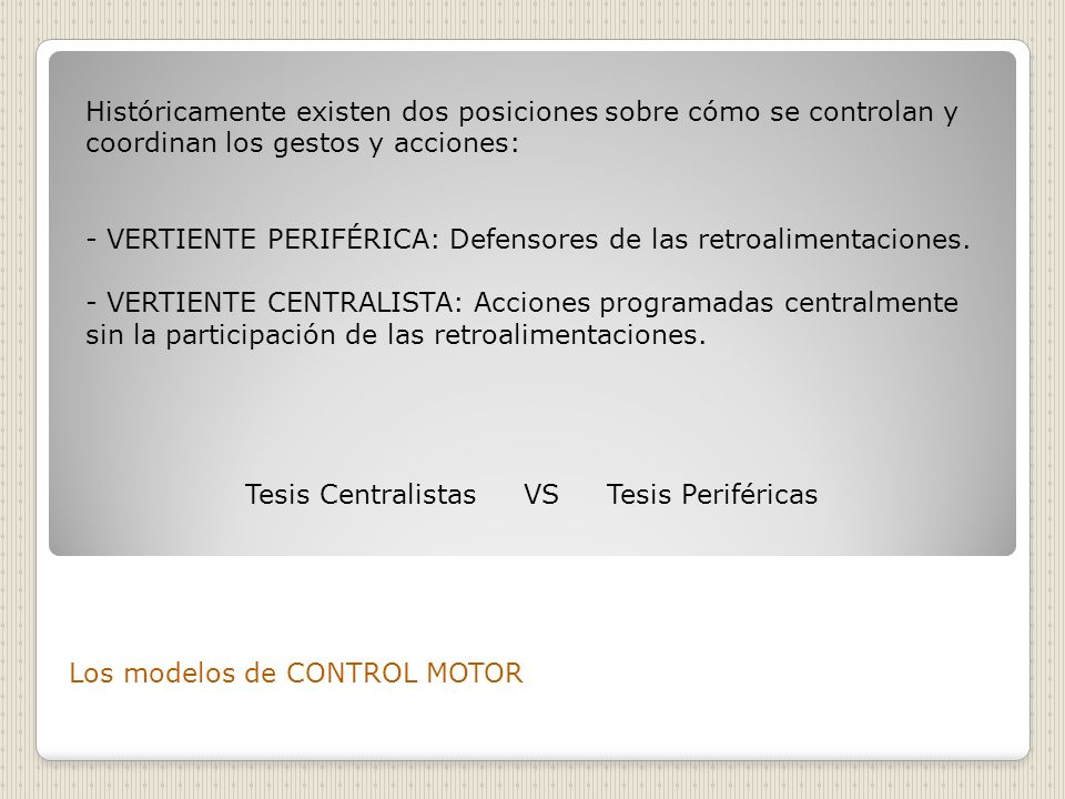 Tesis Centralistas VS Tesis Periféricas