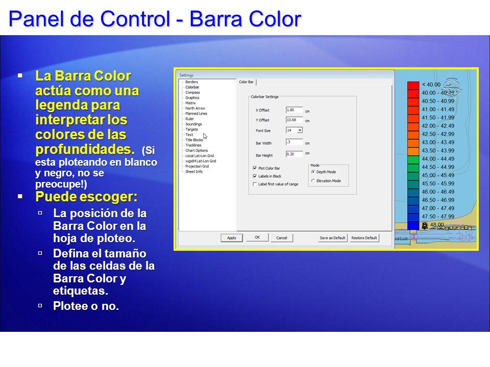 Panel de Control - Barra Color