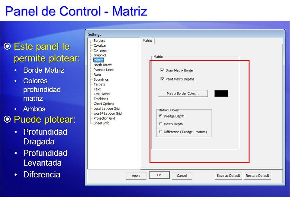 Panel de Control - Matriz