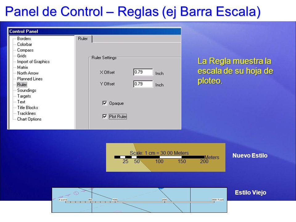 Panel de Control – Reglas (ej Barra Escala)