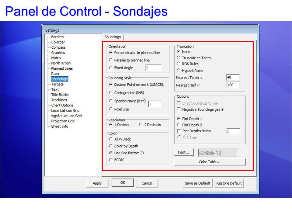 Panel de Control - Sondajes