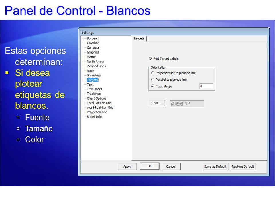 Panel de Control - Blancos