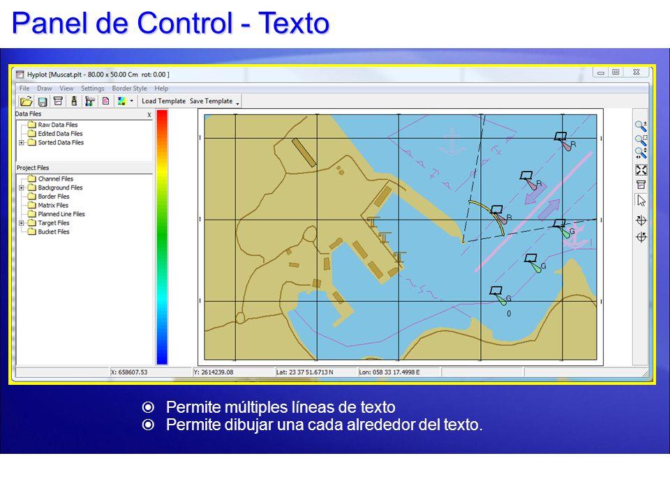 Panel de Control - Texto